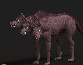 Cerberus the multi-headed dog 3D model