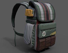 3D asset PBR Human Backpack scifi military