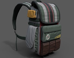 3D asset PBR Human Backpack scifi military