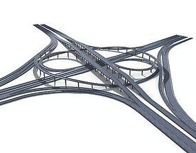 Highway Road Viaduct Flyover-10 3D model