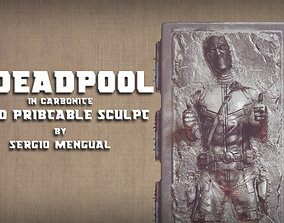 marvel Deadpool in Carbonite 3D Printable Sculpture