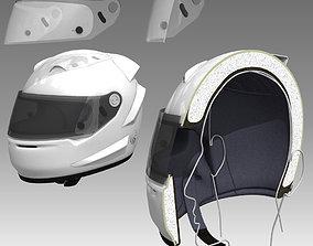 3D Car Helmet Cutaway