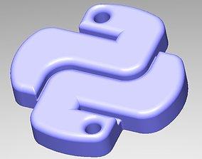 Python Keychain 3D printable model