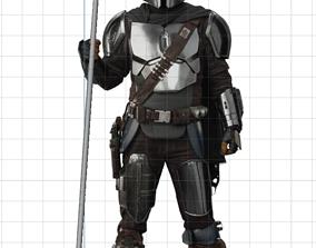 The Mandalorian Beskar spear from the Tv show 3d 1