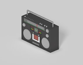3D model Low Poly Old Tape Recorder