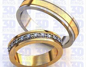 Wedding Rings 687 3D