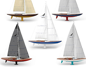 3D yachts 5 colors