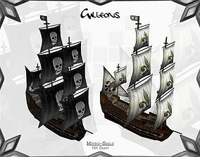 Micro-Galleons 3D asset game-ready
