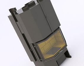 3D model totem eventail petit wood stove