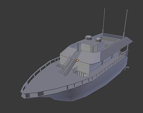 yacht with interiors 3D model vehicle