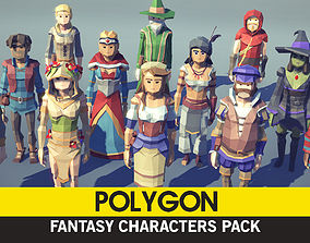 POLYGON - Fantasy Characters Pack 3D model