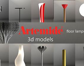3D model Artemide floor lamps set 1
