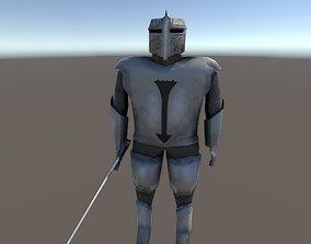Knight Rigged 3D asset