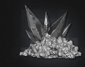 3D model High Poly Cave Crystals