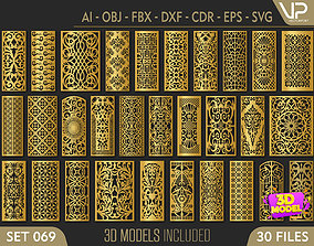 30 3D Decorative wall panels - screen SET 069