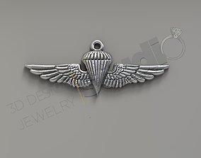 Army special force paratrooper logo pendant 3d model