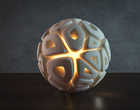 3D print model Voronoi sphere lamp HQ-version