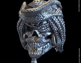 3D printable model Pirate skull vol2 ring