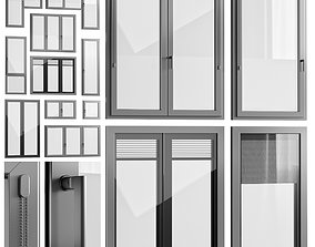 Windows with built-in blinds Finstral 3D