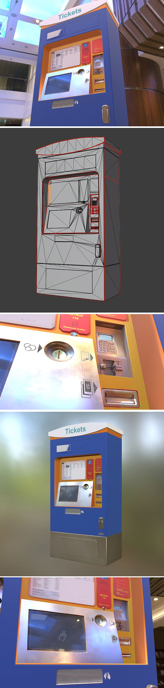 Ticket Machine (Mid-Poly)