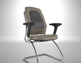 Ergonomic Office Chair Sled 2009 3D