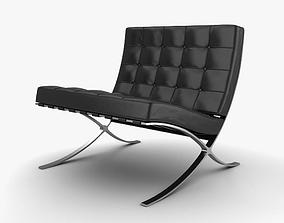 3D model Barcelona Chair rest