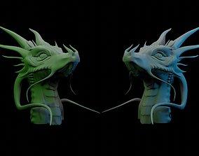 dungeon Dragon Head 3D