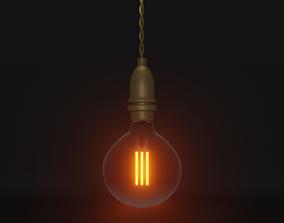 Lightbulb 3D model low-poly