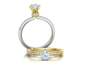 Diamond Engagement Six-prong ring Half Carat stone 1