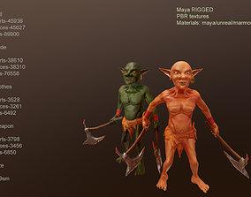 3D asset rigged Goblin