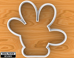 Mickey or Minnie Mouse Hand Cookie 3D printable model 1