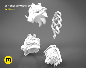 collection - witcher amulets - 3D PRINT MODEL