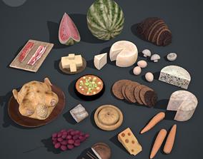 3D model Medieval Food Pack