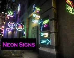 Neon Signs 3D model