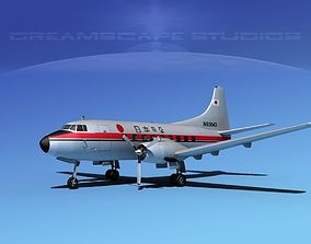 3D Martin 202 Japan Airlines