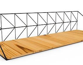 3D Wooden Shelf shelf