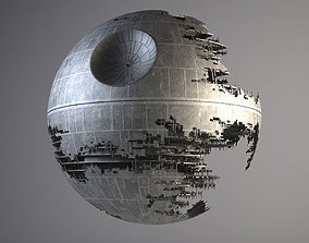 3D model Star Wars Death Star Destroyed