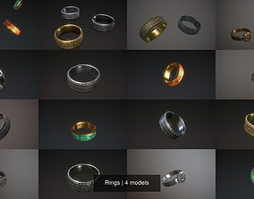 silver 3D Rings