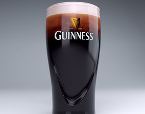 3D Guinness beer glass