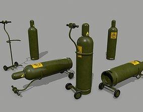 3D model low-poly Propane Tank