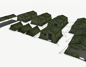 3D asset Tents Military