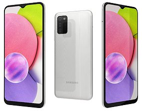 3D model Samsung Galaxy A03s White