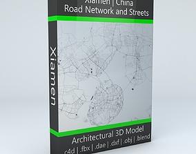 Xiamen Road Network and Streets 3D model