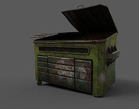 Dumpster Damaged 3D model