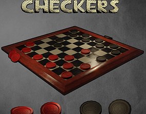 Checkers 3D model realtime