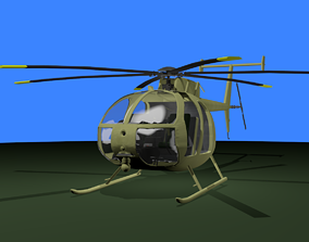 MH-6 Little Bird 3D asset