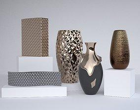 3D Contemporary Vase set