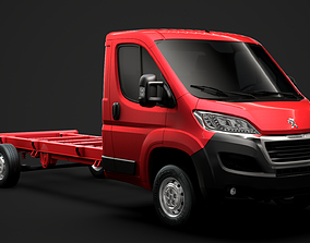 3D model Peugeot Boxer Manager Chassis Truck Single Cab 1