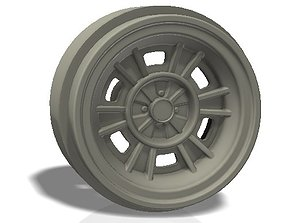 6 spokes rim - llanta 3D printable model