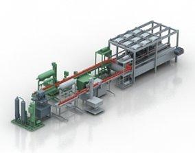 belt expression Conveyor 3D Model